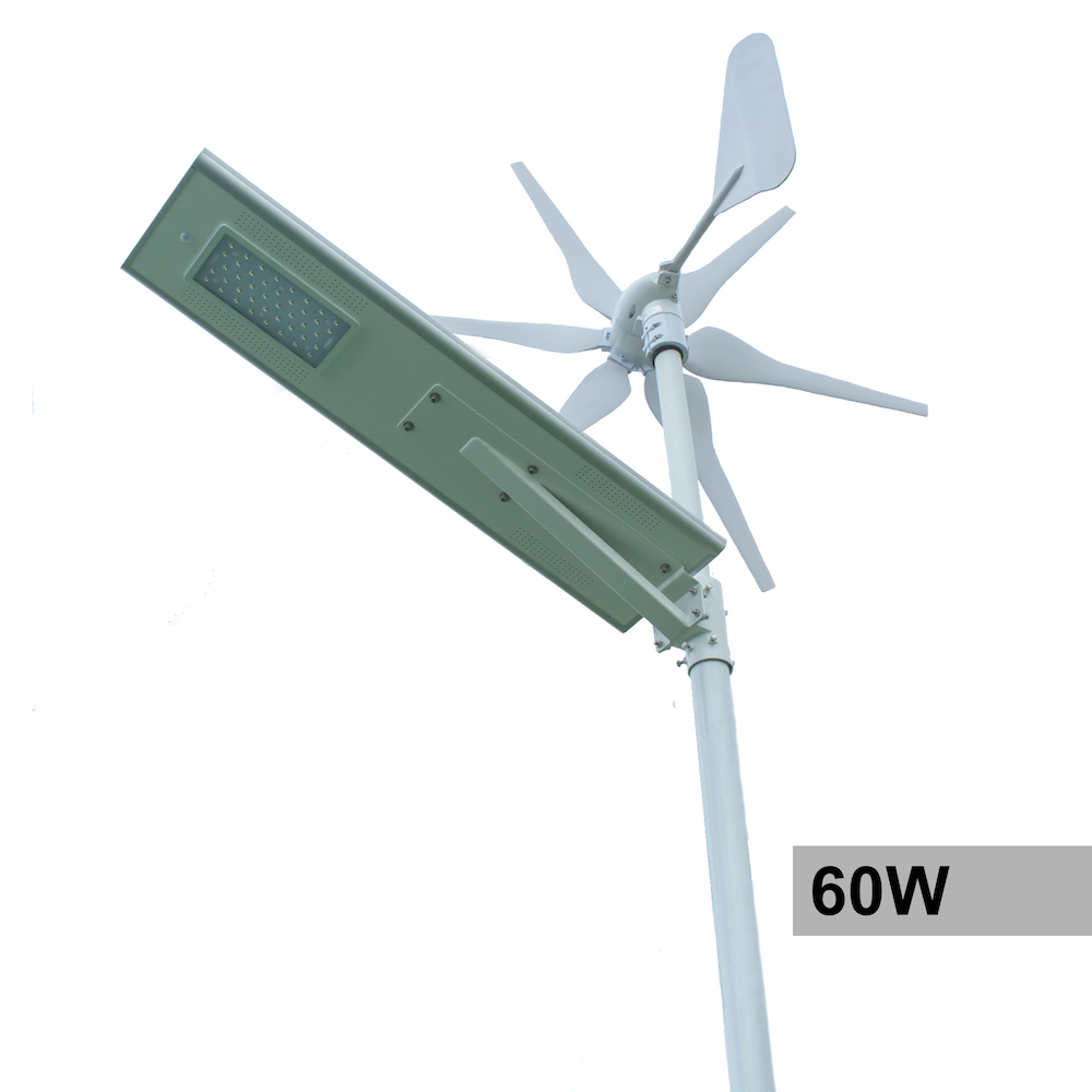 60w Solar And Wind Powered Integrated Street Light