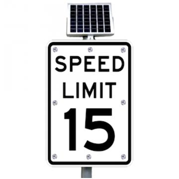 24 Quot Solar Powered Flashing Crosswalk Sign