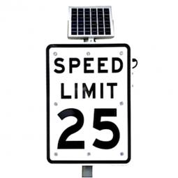 24 u0026quot  solar powered flashing crosswalk sign  ledlighting